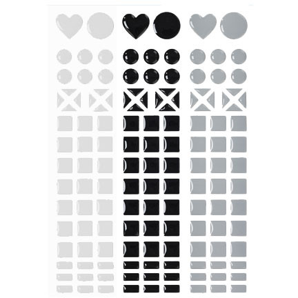 mosaique stickers blanc noir gris tout creer. Black Bedroom Furniture Sets. Home Design Ideas