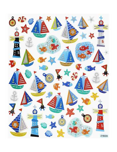 Gommettes stickers Maritime x63