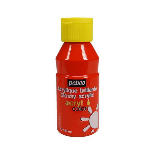 Peinture acrylique Pébéo, ACRYLCOLOR Orange vif 150ml
