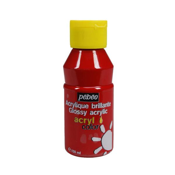 Peinture acrylique Pébéo, ACRYLCOLOR Rouge primaire 150ml