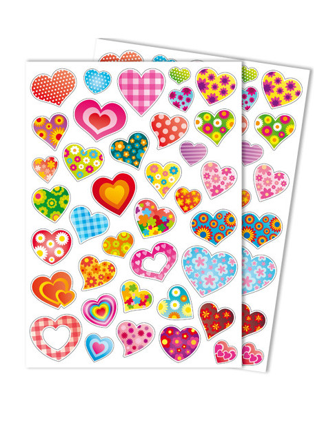 Gommettes GIRLY coeurs x74