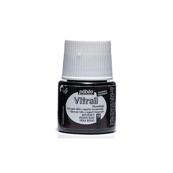 Peinture VITRAIL avec solvant 45ml Violet rouge