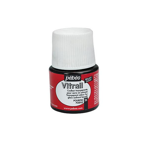 Peinture VERRE avec solvant 45ml Rouge Pourpre