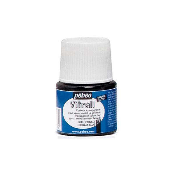 Peinture VERRE avec solvant 45ml Bleu cobalt