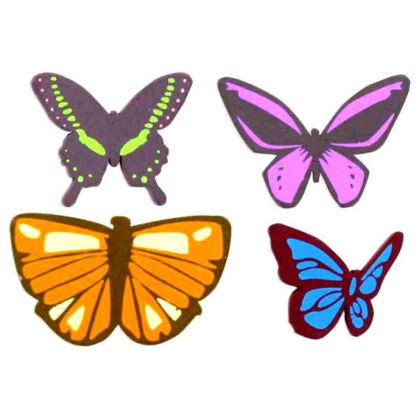 Embellissements bois Papillons x8