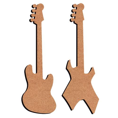 Guitare x2 en mdf 26cm tout creer for Decoration murale guitare