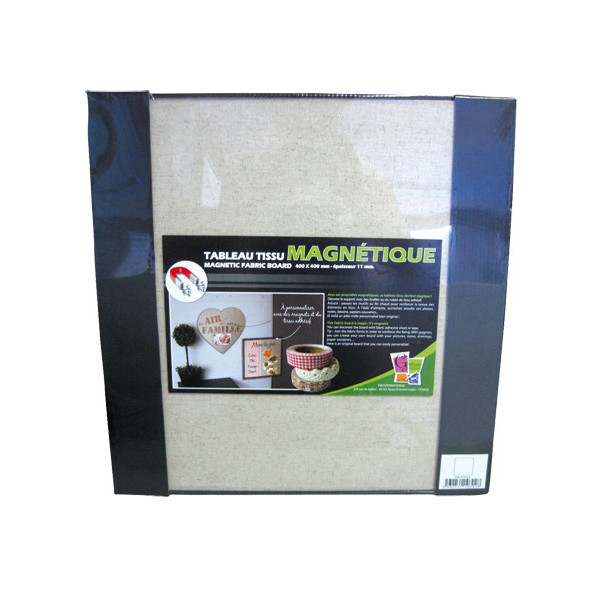 Tableau magnétique tissu LIN - Carré
