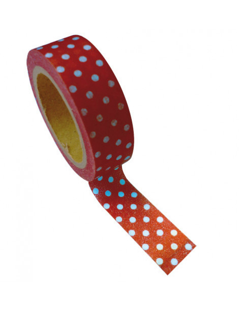 Masking tape - Bordeaux pois 15mm