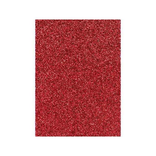 Carton pailleté Rouge x10