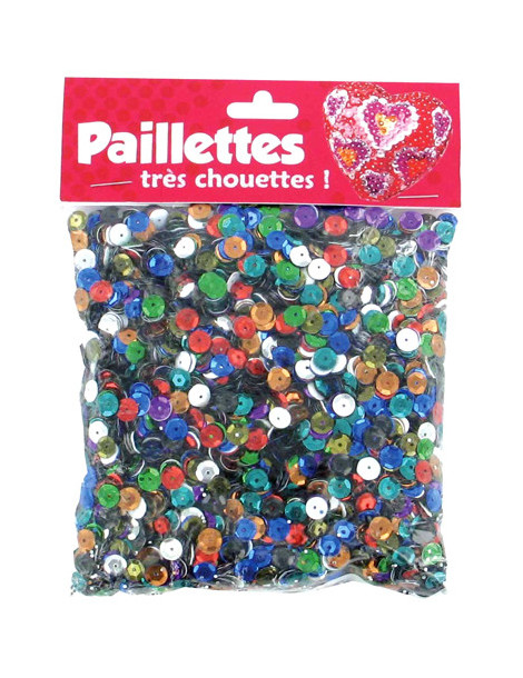 Sequins 6mm assortiment - 100gr
