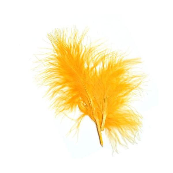 Plumes Marabout jaune x10