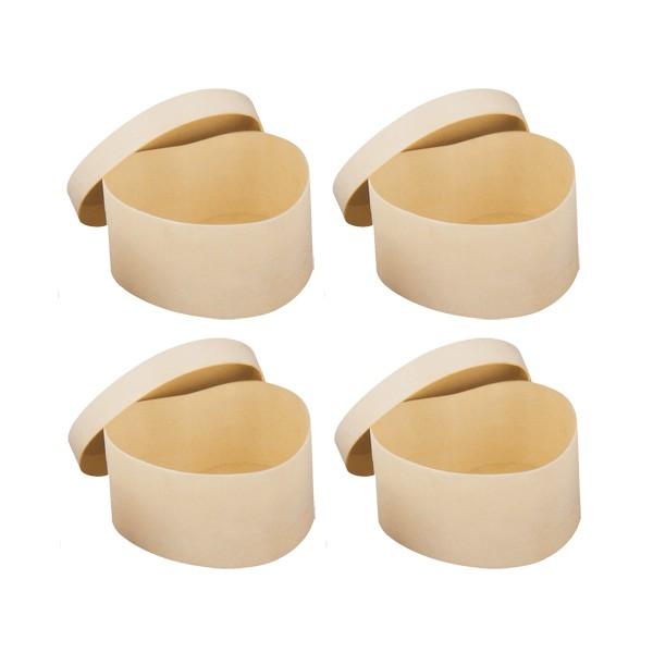 Boite coeur copeaux bois x4 5x5x3cm tout creer for Boite a couture en bois a decorer