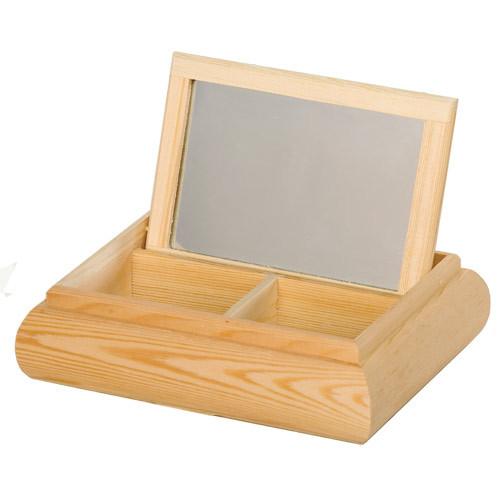 boite bijoux bois avec miroir tout creer. Black Bedroom Furniture Sets. Home Design Ideas