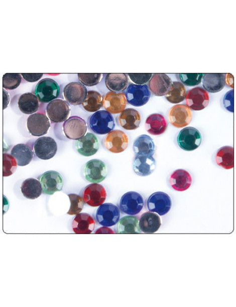 Strass cercles multicolores 5mm