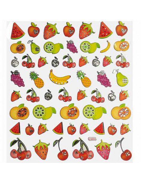 Gommettes fruits x57