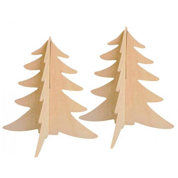 Sapins bois à assembler 15cm x2