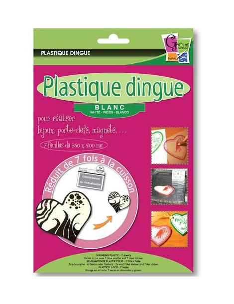 Plastique dingue blanc x7