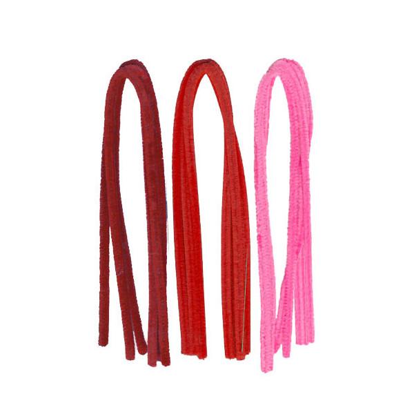 Fils chenilles Mix rouge 8mm x10
