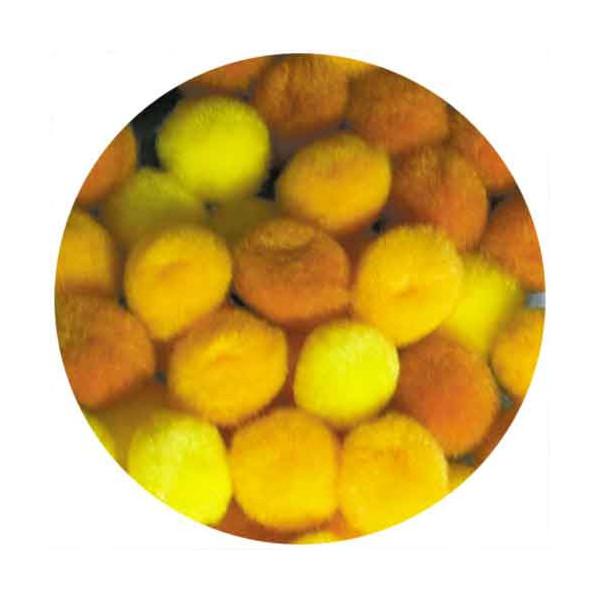 Pompons 15mm jaune x45