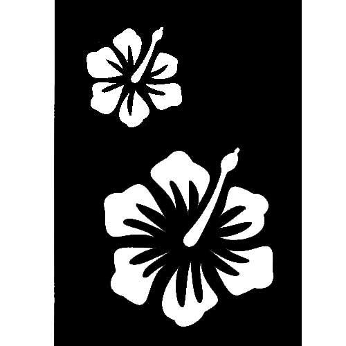 pochoir adh sif pm fleur ibiscus tout creer. Black Bedroom Furniture Sets. Home Design Ideas