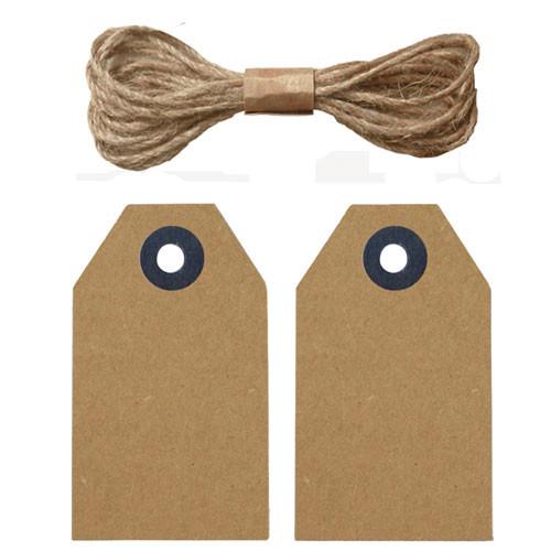 etiquettes kraft lien jute x20 tout creer. Black Bedroom Furniture Sets. Home Design Ideas