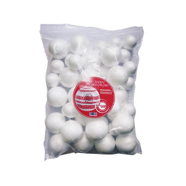 Boules polystyrène 50 et 70mm x40