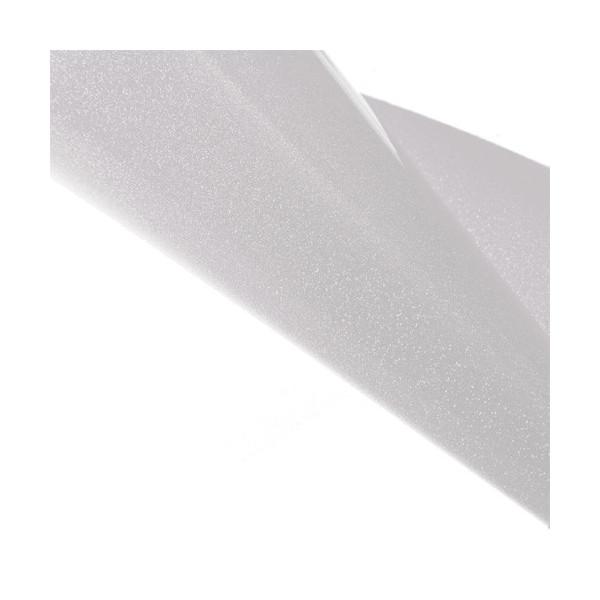 Tissu thermocollant pailleté blanc