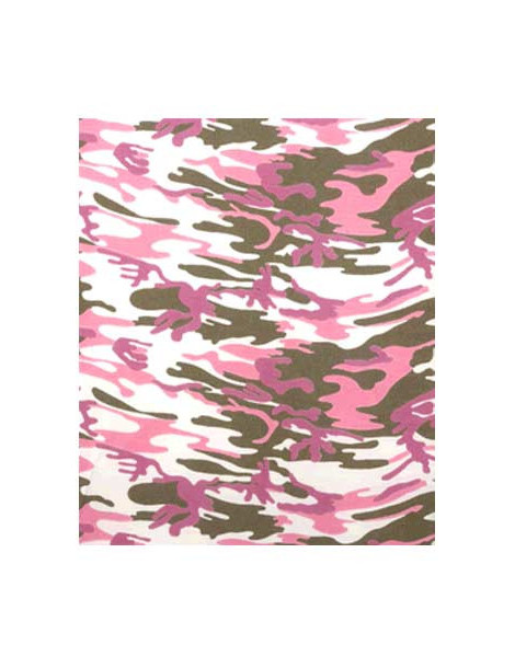 Tissu thermocollant Army rose