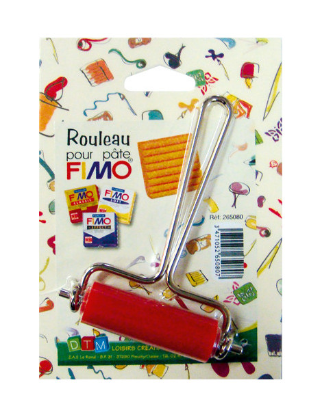 Rouleau Fimo rouge