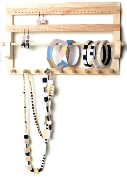 Porte bijoux bois à décorer
