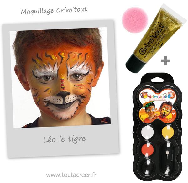 Connu Maquillage enfant - Tigre - Tout à Creer EN09
