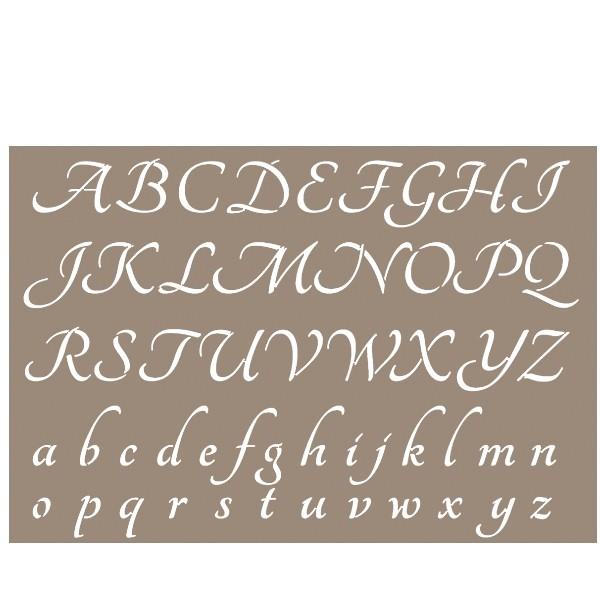 Pochoir lettre alphabet pure 21x29 7cm artemio - Lettre a decouper ...