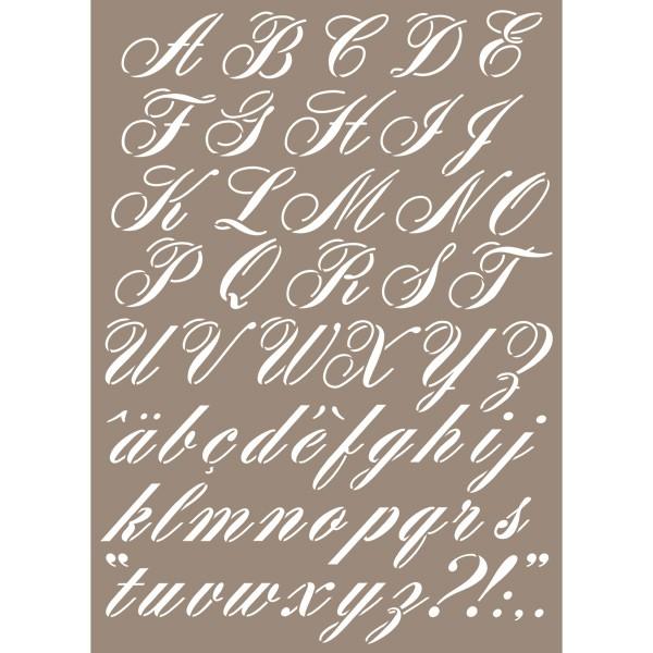pochoir lettre alphabet calligraphie 29 7x42 cm artemio. Black Bedroom Furniture Sets. Home Design Ideas