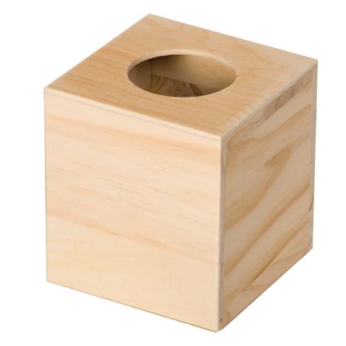 Boite mouchoirs carr e tout creer - Peindre une boite en bois ...