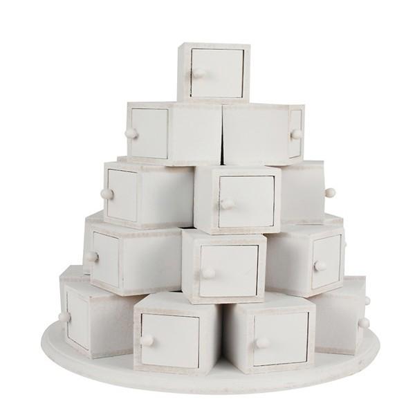 Calendrier de l 39 avent d corer pyramide 24 cubes ctop - Calendrier de l avent en bois a decorer ...
