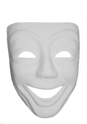 Masque venise visage sourire finition pl tre tout creer for Decorer un masque blanc