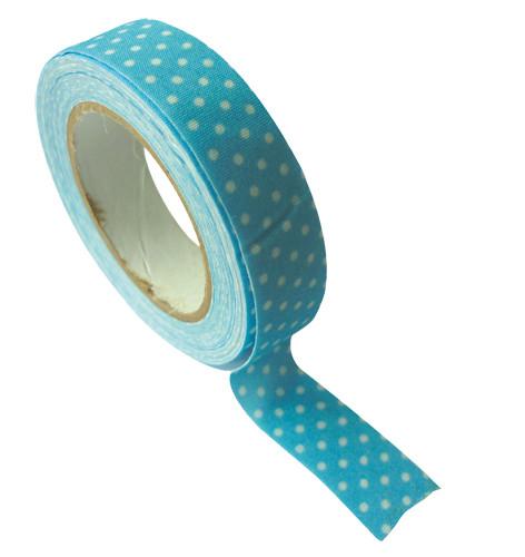 Ruban tissu adh sif bleu pois tout creer for Rubans adhesifs decoratifs