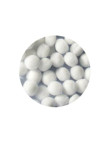 Pompons 15mm blanc x45