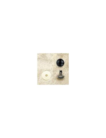 Yeux plastique noir 15mm x2