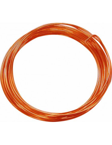 Fil aluminium orange - 1,5mm