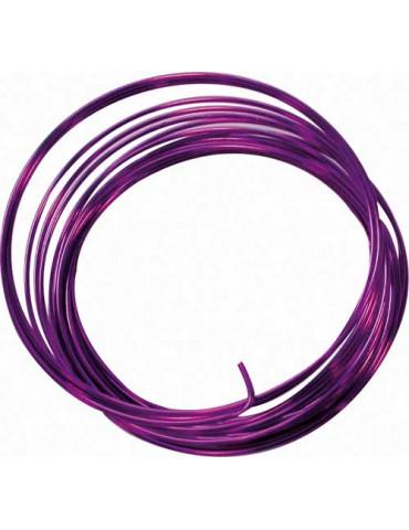 Fil aluminium violet - 1,5mm