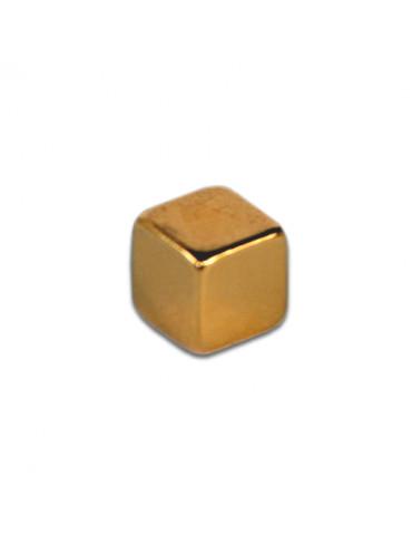 Aimant néodyme cube or 5mm x10