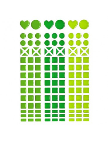 Mosaique stickers camaïeu vert
