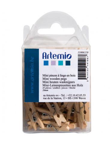 Pinces à linge bois naturel...