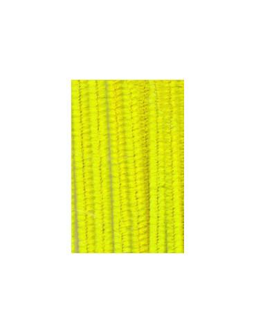 Chenilles jaune 8mm x10