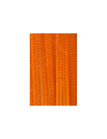 Chenilles orange 8mm x10