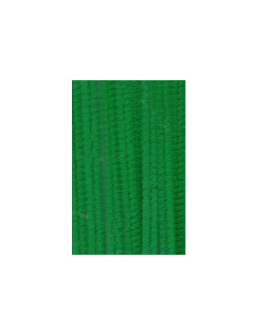Chenilles vert 8mm x10