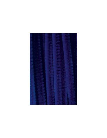 Chenilles bleu 8mm x10