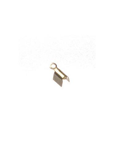 Embouts métal doré 7mm x20