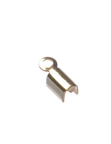 Embouts métal doré 10mm x20